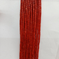 Perles de corail 2x4mm naturel rouge / rose / blanc forme de perles de corail en vrac pour la mode bracelet collier fabrication de bijoux bricolage 16 ''