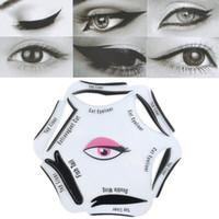 6 Adet Makyaj Güzellik Kedi Eyeliner Smokey Göz Stencil Modelleri Şablon Şekillendirici Aracı