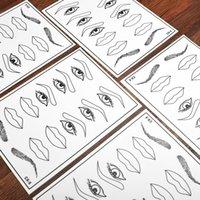 5 pcs Permanente da Pálpebra Sobrancelha Lip Makeup Prática de Tatuagem Prática Da Pele Para Iniciantes Artistas Experientes Maquiagem Permanente Tatuagem Prática Natural