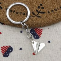 New fashion key chain paper airplane plane 18*17mm pendant D...