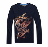 بألواح الخريف نمط جديد الجمجمة طباعة تي شيرت الرجال 3d قميص مضحك بلايز طويلة الأكمام عارضة قميص زائد حجم قمم الذكور قمزة الماركة