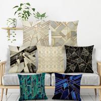 Moda Ins Couch cuscini di lino Piazza tiro cuscino copre 18 x 18 Outdoor Indoor Federe decorativi BH18091