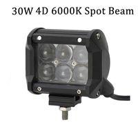 1 pezzo 12V 4 pollici Mini Bar 4D obiettivo 30w OSRAM Barra luminosa a led per trattore rimorchio Camion fuoristrada