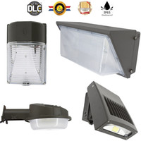 En stock + UL DLC LED Paquete de pared Luz 20W 30W 50W 60W 80 100W 120w lámpara de jardín LED de montaje en pared LED AC90-277V