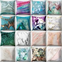 Colorful Peach Skin Throw Pillow Cover Aerial View Abstract ...