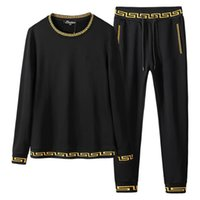 Autumn casual mens designer tracksuits fashion long sleeve o...