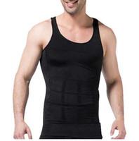 SANWOOD Hombres que adelgazan la ropa interior Body Shaper Corsé de la cintura Hombres Chaleco de la talladora Cuerpo que adelgaza la barriga Panza del vientre Shapewear delgado del cuerpo