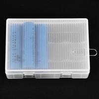 VBESTLIFE Tragbares Batteriefach Hartes PP Transparentes Batteriefach Aufbewahrungsbox für 4 x 26650 Batterien (nicht enthalten) mit Haken