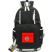 Arqui-inimigo mochila saco Stigmata de metal daypack Morte rocha mochila mochila Música mochila Computer desporto escolar Fora bloco do dia porta
