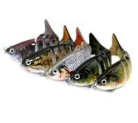 7 разделов реалистичные Swimbait рыболовные приманки 10 см / 15.4 г кривошипно приманки гольян жесткий Bait с 6# рыболовный крючок