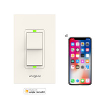 Koogeek Two Gang Wi- Fi Enabled Smart Light Switch Works with...