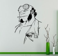 Hellboy Wall Vinyl Sticker Comics Superhero Decal Home Interior Película de Dibujos Animados Gráficos de Pared Dormitorio Decoración Cartel Creativo
