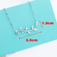 brand Sterling Silver Branch pendant Necklace women luxury P...