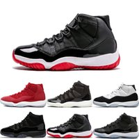 Top 11 Prom Night Cap Gown Blackout Win Like 82 96 Gym Red Chicago Midnight Navy Scarpe da basket 11S Bred Space Jam Concords Sport Sneakers
