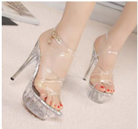 New arrival High heels round toes Sexy High heels buckle str...