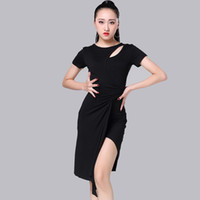 2017 Hot Lady Women Latin Dance Dress Milk Silk Yarn Top Tas...