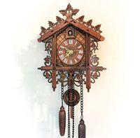 Ретро старинные настенные часы висит ручной работы деревянные часы с кукушкой дом стиль настенные часы для гостиной украшения дома