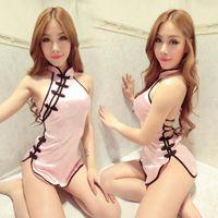 Seksi Porno Ürünleri Çin cheongsam Üniformalar Egzotik Kostüm tekel oyunu Seks Oyunu Cosplay Seksi İç Egzotik Giyim