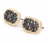 Aleación pequeños oval filigrana Stud pendientes ahuecan hacia fuera los pendientes para las mujeres pendientes de joyería de moda