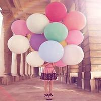 Runde Latex Luftballons 36 Zoll Hochzeitsdekoration Helium Große Große Riesen Luftballons Geburtstagsparty Decora Aufblasbarer Luftballon