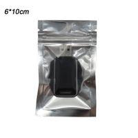 6x10cm небольшая алюминиевая фольга / очистить многоразового клапана молнии пластиковые сумки розничная упаковка упаковка мешок мешок замка застежка-молнии мешки полиэтиленовый пакет