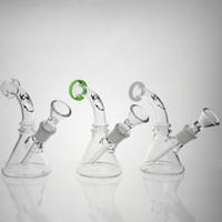 New 14mm Male Mini Kleine Glaspfeife Wasserpfeifen Pyrex Bohrinseln Hüttenglasbong Thick Bongs Glaspfeifen für Raucher Kostenloser Versand