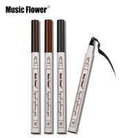 Nouvelle Musique Fleur Liquide Sourcils Stylo Musique Fleur Sourcils Enhancer 3 Couleurs Double Tête Sourcils Enhancer Étanche Livraison Gratuite