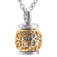 Мемориал кремации пепел урна на память специальный дизайн Кристалл фонарь из нержавеющей стали кулон ожерелье ювелирные изделия для женщин