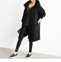 США Великобритания новое прибытие 2018 мода весна осень женщины армия зеленый хиппи негабаритных тренч длинное пальто хлопок женский casaco пальто