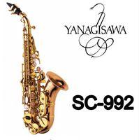 Yüksek Kaliteli Pirinç Aletleri Yeni Varış YANAGISAWA SC-992 Altın Lak Soprano Saksafon Performans Aletleri Ile Vaka