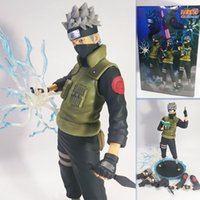 NARUTO Hatake Kakashi Sharingan Naruto Shippuden figura de acción Toy Collection Moveable Movie Anime niño niño regalo electrónico mascota