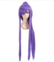 Vocaloid gakupo طويل الأرجواني لمة كليب على ذيل حصان 100 سنتيمتر الباروكة تأثيري أنيمي