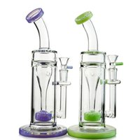 Recycler Glass Oil Rig Water Bong With Slitted Donut Perc Pe...