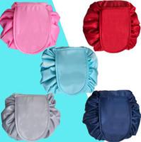 Tembel Kozmetik Çantası 6 Renkler Taşınabilir Güzellik İpli Seyahat Makyaj Çantası Depolama Kozmetik Makyaj Organizatörler Banyo Çantaları 12 adet OOA4378
