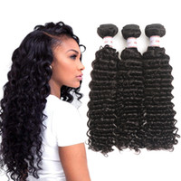 MSH 10A Brazilian Virgin Hair Deep Wave Human Hair Weave 3 B...