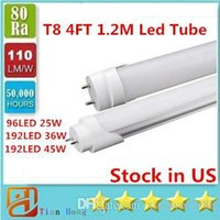 4ft 1.2m 1200mm T8 Led Tube 25W 36W 45W Warm / Natraul / Cool White Led Lampada fluorescente AC 110-240V