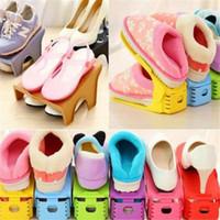 Multi-color Display Rack Shoes Organizer Ahorro de espacio Plastic Rack Storage home garden para hombres woem zapatos de niña