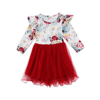 Girls Dress Christmas Clothing Kids Floral Lace Tutu Dresses...