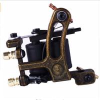 Üst Shader Liner Dövme Makinesi 10 Çözgü Bobin Yeşil Dövme Tabancası Acemi Uygulama Dövme Gun Kalıcı Makyaj Makinesi