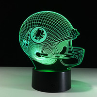 Football Friendship gifts 3D LED Night Light 7 Color Changin...