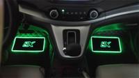 4pcs 자동차 인테리어 분위기 램프 바닥 매트 LED 장식 램프 앱 제어 다채로운 깜박이 빛 RGB 원격