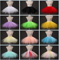 Sıcak Satış Şekerleri Renk Kısa Elbise Gelin Aksesuarları Petticoats Elastik Bel Farkı Renk Tül Tutu Etekler Kadınlar Için
