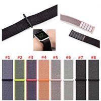 Sport Nylon Loop Bands for Apple Watch Wrist Strap 38 42mm B...