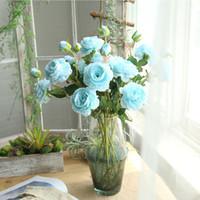 Flores de seda Flores artificiais para decoração Deocrations de casamento de peônia falsa Decoração de festa Decoração de casa centrais de mesa decorações de casamento