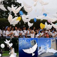 Большой размер 95x42cm гелий Голубь свадьбы шар Эко полет белый голубь шар для партии украшения белый голубь шар