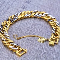 Top Quality 12MM Bracelets 24K Gold Filled Rhodium Plated Fi...