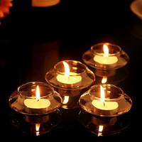 Titular de la vela de cristal flotante transparente boda mesa en casa decorativa con una vela romántica cena decoración del partido