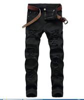 كبيرة الحجم الجينز 2018 الخريف جديد الرجال الجينز الكلاسيكي هول الأسود الدينيم السراويل ضئيلة عارضة streight الساق الجينز الشحن مجانا حجم 28-42 TX499
