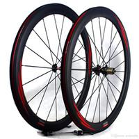 من ألياف الكربون دراجة عجلات الطريق 50MM 700C البازلت الفرامل سطح الفاصلة أنبوبي دراجة طريق عرض سباق العجلات حافة 25MM 3K مات