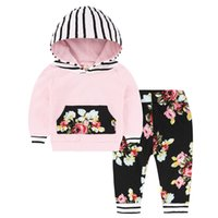 Fashion Children baby Girls Cartoon Clothing Suits Baby Velv...
